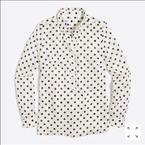 J.Crew polka dot blouse